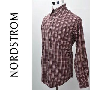 NORDSTROM Gent's Plaid Checks Shirt Size L